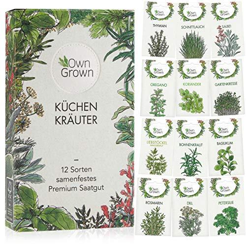 Kräuter Samen Set von OwnGrown, 12 Sorten Küchenkräuter als...